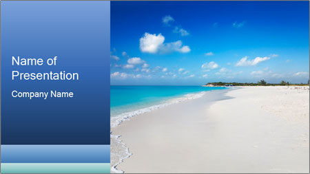 The white sands of secluded PowerPoint Template