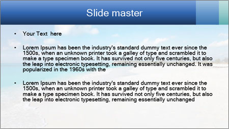 The white sands of secluded PowerPoint Template - Slide 2