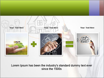 Hand drawing house PowerPoint Template - Slide 22