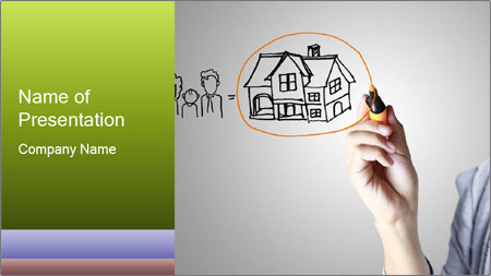 Hand drawing house PowerPoint Template