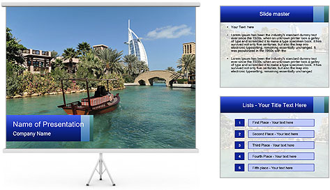 View of  Dubai PowerPoint Template