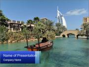 View of  Dubai PowerPoint Templates