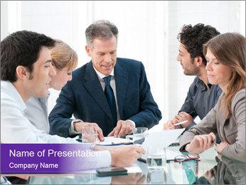 Mature businessman working PowerPoint Template - Slide 1