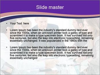 Mature businessman working PowerPoint Template - Slide 2