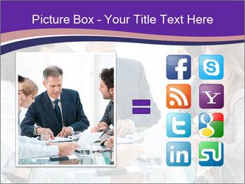 Mature businessman working PowerPoint Template - Slide 21