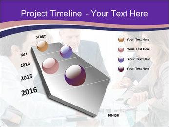 Mature businessman working PowerPoint Template - Slide 26