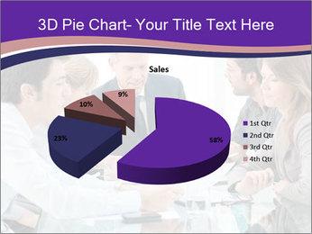 Mature businessman working PowerPoint Template - Slide 35