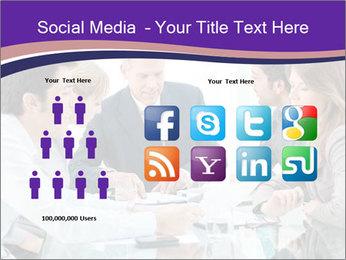 Mature businessman working PowerPoint Template - Slide 5