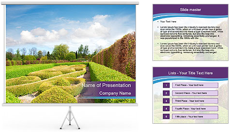 Garden in spring PowerPoint Template