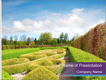 Garden in spring PowerPoint Template - Slide 1