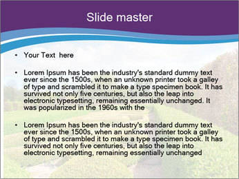 Garden in spring PowerPoint Template - Slide 2