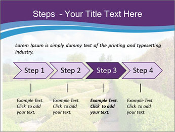 Garden in spring PowerPoint Template - Slide 4