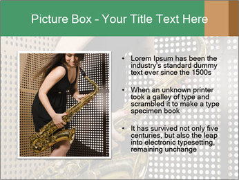 Woman with saxophone PowerPoint Templates - Slide 13