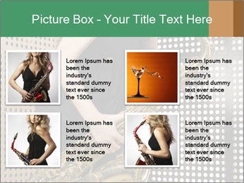 Woman with saxophone PowerPoint Templates - Slide 14