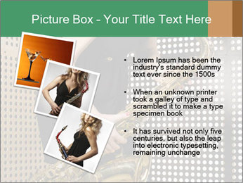 Woman with saxophone PowerPoint Templates - Slide 17