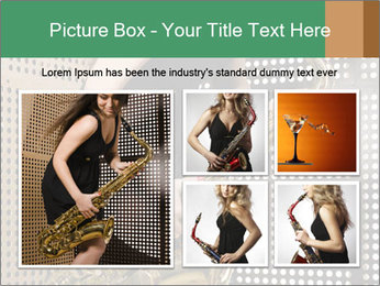 Woman with saxophone PowerPoint Templates - Slide 19