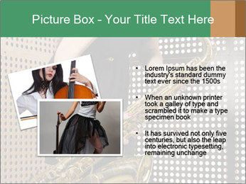 Woman with saxophone PowerPoint Templates - Slide 20