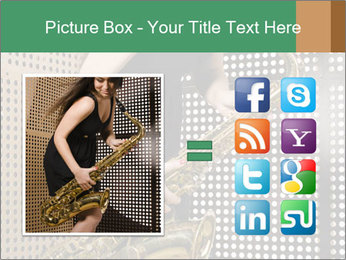 Woman with saxophone PowerPoint Templates - Slide 21