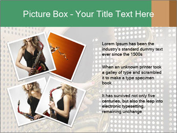 Woman with saxophone PowerPoint Templates - Slide 23