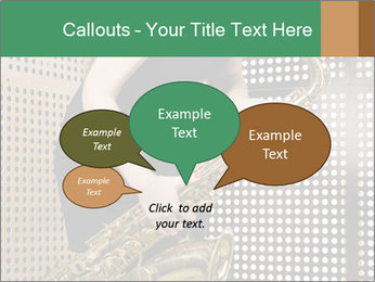 Woman with saxophone PowerPoint Templates - Slide 73