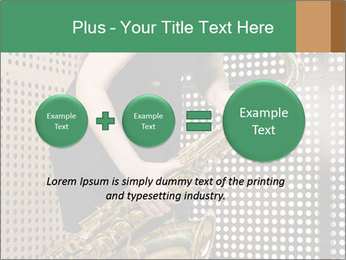 Woman with saxophone PowerPoint Templates - Slide 75