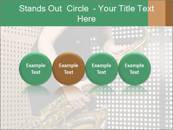Woman with saxophone PowerPoint Templates - Slide 76