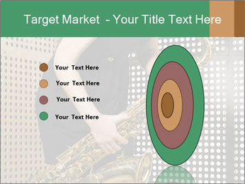 Woman with saxophone PowerPoint Templates - Slide 84