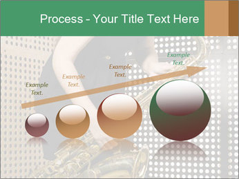 Woman with saxophone PowerPoint Templates - Slide 87