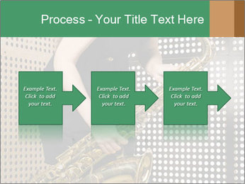 Woman with saxophone PowerPoint Templates - Slide 88