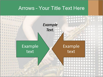 Woman with saxophone PowerPoint Templates - Slide 90