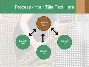 Woman with saxophone PowerPoint Templates - Slide 91