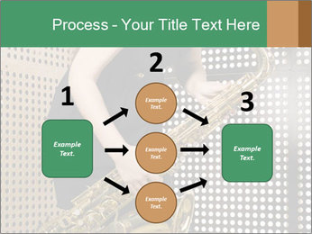 Woman with saxophone PowerPoint Templates - Slide 92