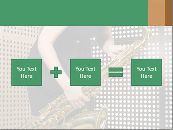 Woman with saxophone PowerPoint Templates - Slide 95