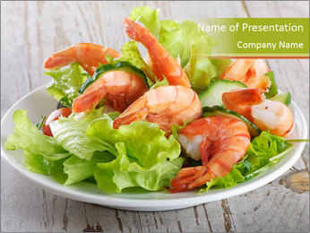 Green salad PowerPoint Template