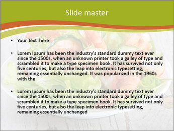 Green salad PowerPoint Template - Slide 2