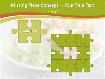 Green salad PowerPoint Template - Slide 45