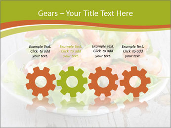 Green salad PowerPoint Template - Slide 48
