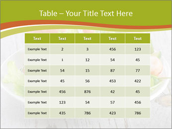 Green salad PowerPoint Template - Slide 55