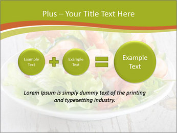 Green salad PowerPoint Template - Slide 75