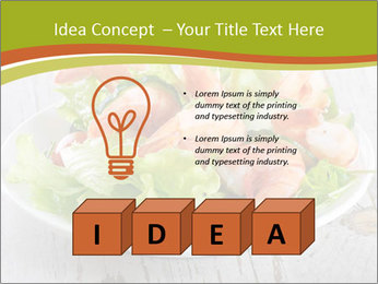 Green salad PowerPoint Template - Slide 80