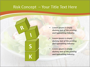 Green salad PowerPoint Template - Slide 81