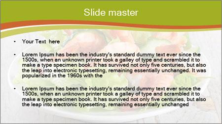 Green salad PowerPoint Template