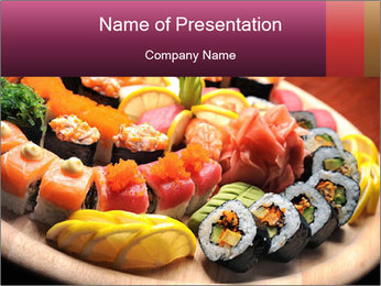 Sushi PowerPoint Template