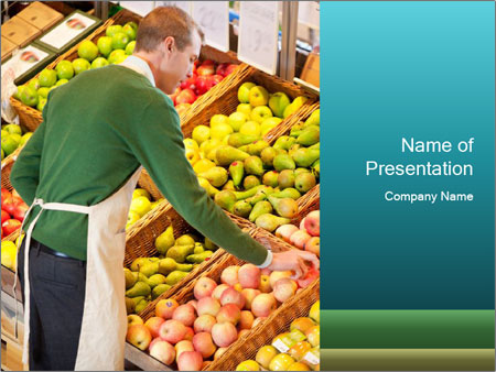 Store worker PowerPoint Templates