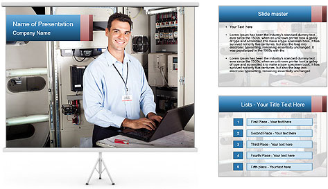 Professional industrial technician PowerPoint Template