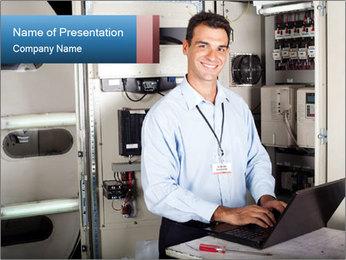Professional industrial technician PowerPoint Template - Slide 1
