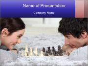 Playing chess PowerPoint Template