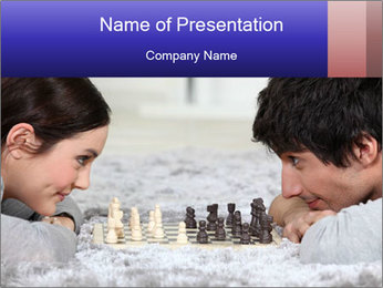 Playing chess PowerPoint Template - Slide 1