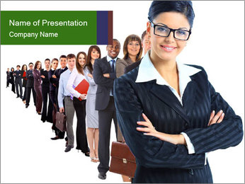 Business woman team PowerPoint Template - Slide 1