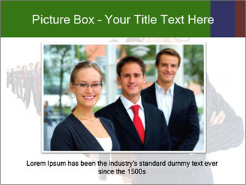 Business woman team PowerPoint Template - Slide 16